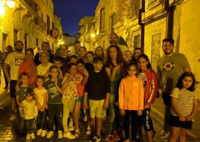 Grupo Joven Alfombra para la Procesion de la Merced