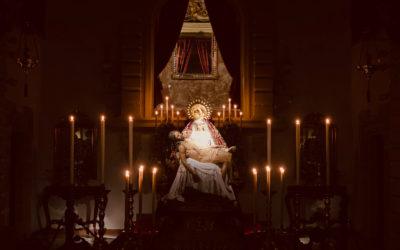 Fotografías del Rosario de la Aurora de Nuestra Señora de las Angustias y Veneración de los fieles 2020