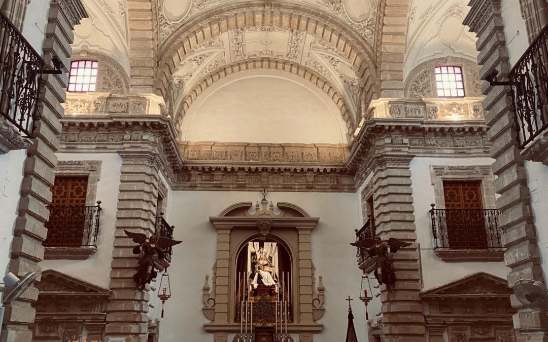 Renovación de la iluminación en la cúpula central de la Capilla de Nuestra Señora de las Angustias