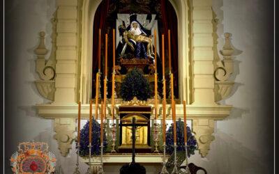 Cambio de vestimenta de Nuestra Señora de las Angustias para la Cuaresma