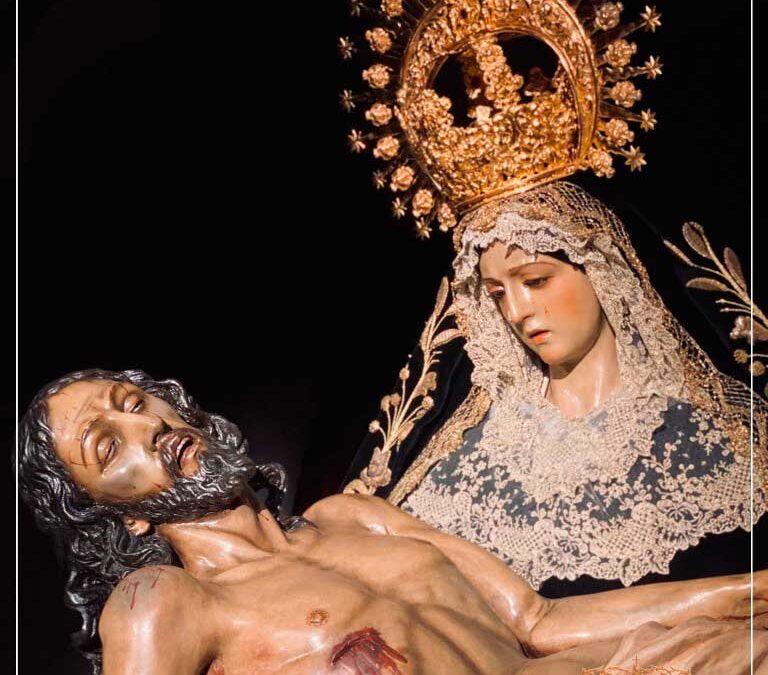 Cambio de vestimenta de Nuestra Señora de las Angustias para el Solemne Septenario