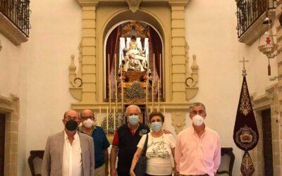 Visita de la Hermandad de las Angustias de Almería a nuestra Capilla